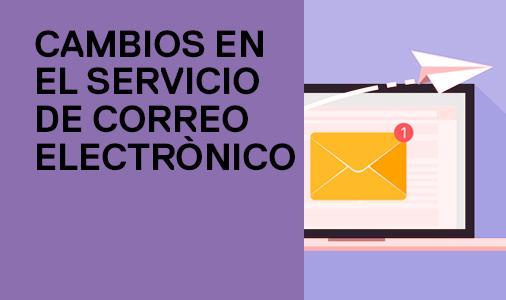 cambio servicio correo electrónico