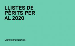 Llistes de Pèrits 2020