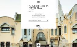 La pantalla d'inici del portal arquitecturacatalana.cat