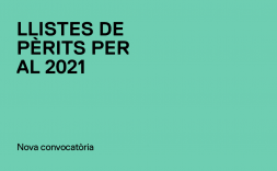 convocatòria llistes pèrits 2021